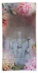Abraham Lincoln Memorial At Spring Beach Towel