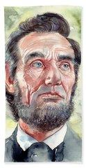 Abraham Lincoln Portrait Beach Towel