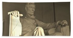 Abraham Lincoln Statue Beach Sheet