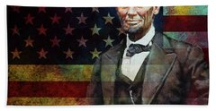 Abraham Lincoln The President  Beach Towel by Gull G