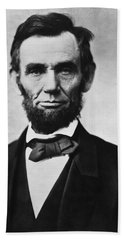 Abraham Lincoln Beach Towel by War Is Hell Store