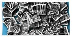 Beach Towel featuring the digital art Abraxas Collage by Visual Artist Frank Bonilla