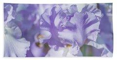 Absolute Treasure Closeup. The Beauty Of Irises Beach Sheet