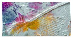 Beach Towel featuring the painting Abstract 1 by Tracy Bonin