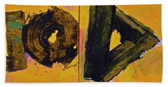 Abstract 2071-diptych Beach Towel