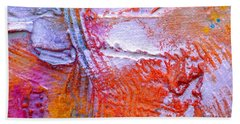 Beach Towel featuring the painting Abstract 3 by Tracy Bonin