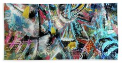 Abstract 301 - Encaustic Beach Towel