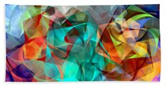 Beach Sheet featuring the digital art Abstract 3540 by Rafael Salazar