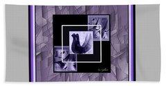Abstract #368 Beach Towel by Iris Gelbart