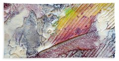 Beach Towel featuring the painting Abstract 4 by Tracy Bonin