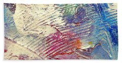 Beach Towel featuring the painting Abstract 5 by Tracy Bonin