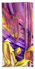 Beach Sheet featuring the painting Abstract 6525 by Stephanie Moore