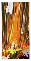 Beach Sheet featuring the painting Abstract 6535 by Stephanie Moore