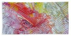 Beach Towel featuring the painting Abstract 9 by Tracy Bonin