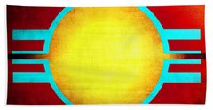 Abstract 98 Beach Towel by Timothy Bulone