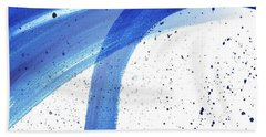 Abstract Acrylic Painting Blues Series 4 Beach Towel by Saribelle Rodriguez