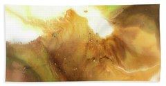 Abstract Acrylic Painting Fantasy Beach Sheet by Saribelle Rodriguez