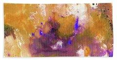 Abstract Acrylic Painting Purple  Beach Towel