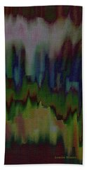 Beach Towel featuring the painting Abstract - Another View Of The City by Lenore Senior