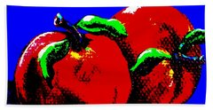 Abstract Apples Beach Towel by Jennifer Lake