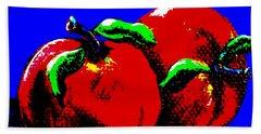 Abstract Apples Beach Sheet