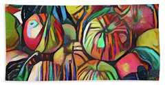 Abstract Apples Beach Towel
