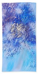 Abstract Art - The Colors Of Winter Beach Towel