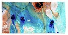Abstract Art - The Journey Home - Sharon Cummings Beach Sheet by Sharon Cummings