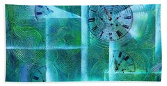Abstract Art - Time Fragments Beach Towel