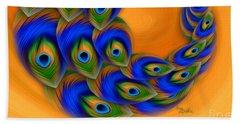 Abstract Art - Vanity Vortex By Rgiada Beach Sheet by Giada Rossi