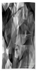 Beach Towel featuring the digital art Abstract Black And White Symphony by Rafael Salazar
