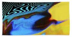 Abstract Blue Bird Feather Beach Towel