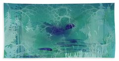 Abstract Blue Green Beach Towel