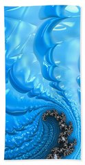 Beach Towel featuring the photograph Abstract Blue Winter Fractal by Matthias Hauser