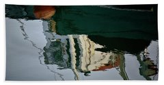 Abstract Boat Reflection II Beach Towel