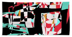 Beach Sheet featuring the digital art Abstract Boxes by Jessica Wright