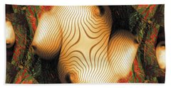 Abstract Breasts By Mb Beach Towel
