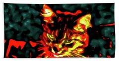 Abstract Cat Beach Sheet