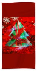 Abstract Christmas Bright Beach Towel