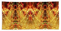 Abstract Christmas Lights #175 Beach Sheet by Barbara Tristan