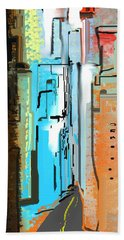 Abstract City Downtown Beach Sheet by Jessica Wright
