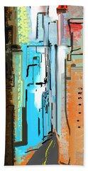 Abstract City Downtown Beach Sheet