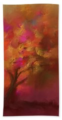 Abstract Colourful Tree Beach Towel