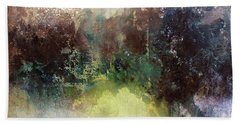 Abstract Contemporary Art Beach Sheet by Patricia Lintner