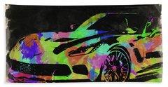 Abstract Corvette Watercolor IIi Beach Towel