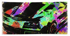 Abstract Corvette Watercolor V Beach Towel
