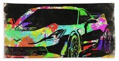 Abstract Corvette Watercolor Vi Beach Towel