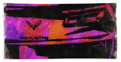 Abstract Corvette Watercolor Xii Beach Towel