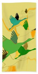 Abstract Cranes Beach Towel