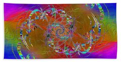 Beach Sheet featuring the digital art Abstract Cubed 351 by Tim Allen